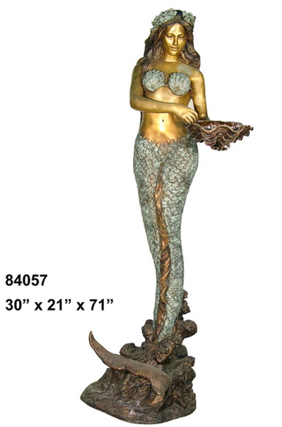 Bronze Mermaid Fountains | Bronze Mermaid Statues - AF 84057