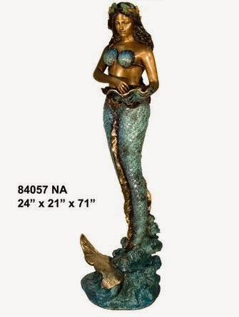 Bronze Mermaid Fountains | Bronze Mermaid Statues - AF 84057NA