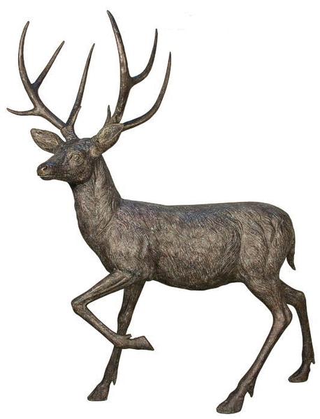 Bronze Deer Buck Statues - AF 84071
