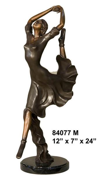 Bronze Dancing Lady Statue - AF 84077M