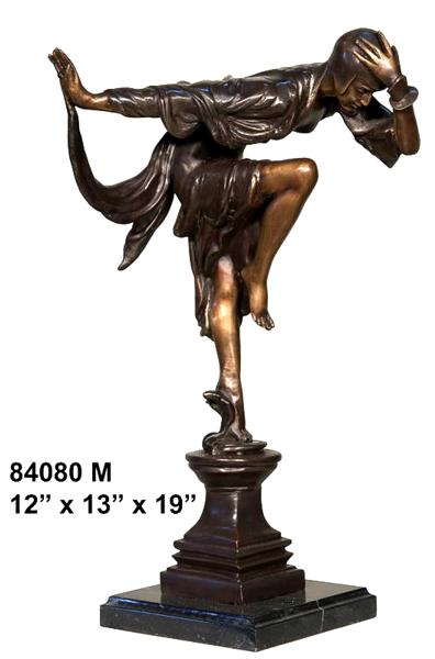 Bronze Dancing Lady Statue - AF 84080M