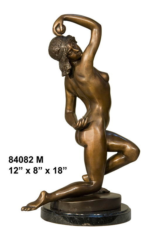 Bronze Nude Lady Statue - AF 84082M