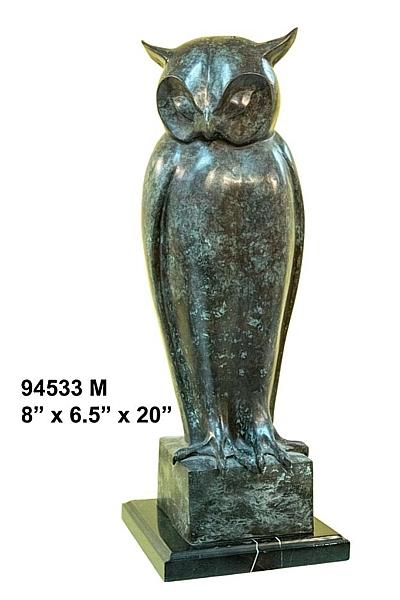 Bronze Owl Statue - AF 8