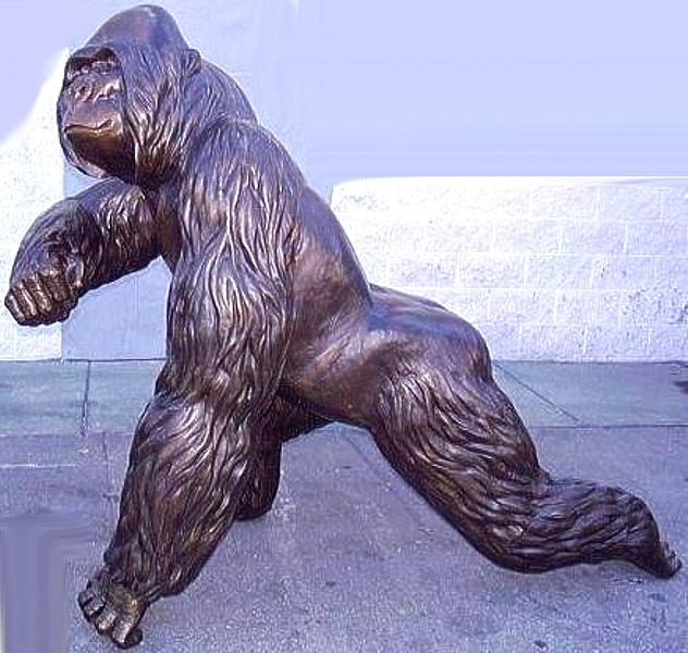Bronze Silverback Gorilla Statue - ASB 856