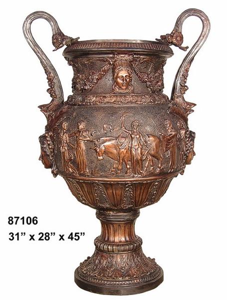 Bronze Egyptian Urn - AF 87106