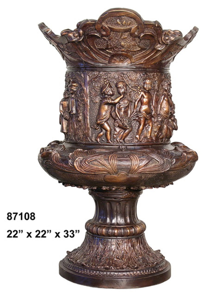 Bronze Incredible Detail Planter Urn - AF 87108