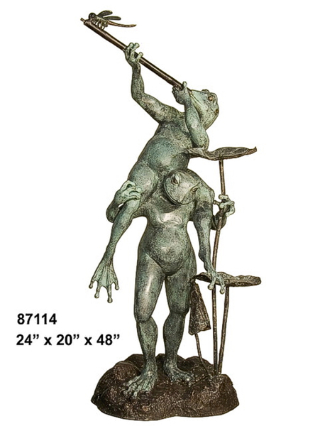 Bronze Frog Fountain/Statue - AF 87114