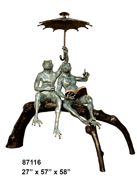 Bronze Frog Fountain/Statue - AF 87716