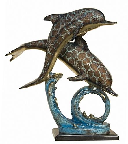 Bronze Dolphin Statue - AF 87124NB