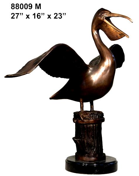Bronze Pelican Statues - AF 88009M