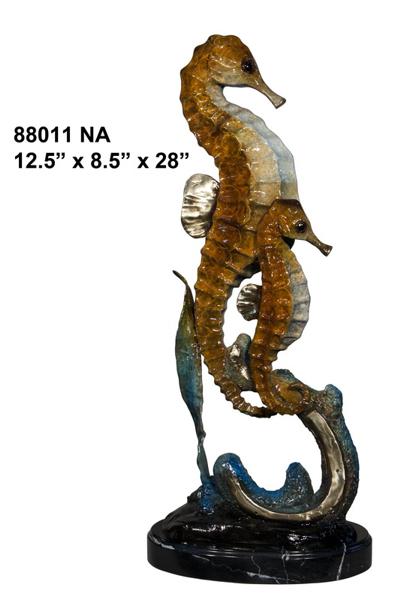 Bronze Sea Horse Statue - AF 88011NA