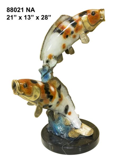 Bronze Fish Statue - AF 88021NA