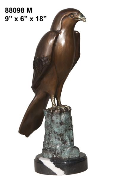 Bronze Falcon Statue - AF 88098M