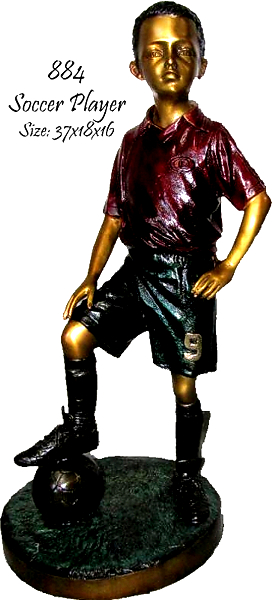 Bronze Boy Soccer Player Statue - ASB 884