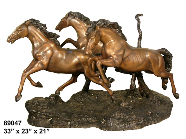 Bronze Themed Horse Tables - AF 89047