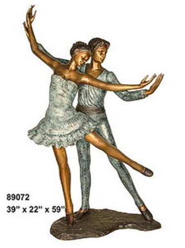 Bronze Boy & Girl Ballerina Statue - AF 89072