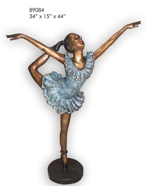 Bronze Girl Ballerina Statue - AF 89084