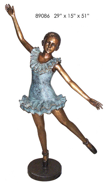 Bronze Girl Ballerina Statue - AF 89086