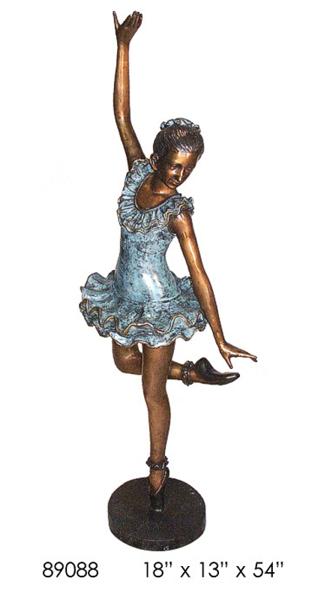 Bronze Girl Ballerina Statue - AF 89088