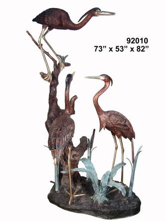 Bronze Heron Fountains - AF 92010
