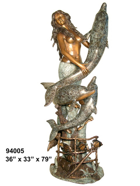 Bronze Mermaid Fountains | Bronze Mermaid Statues - AF 94005
