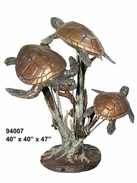 Bronze Turtle Fountain - AF 94007