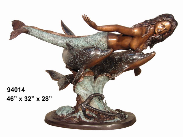 Bronze Mermaid Table - AF 94014