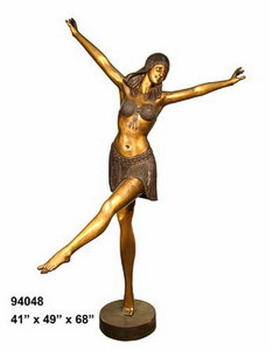 Bronze Egyptian Lady Dancer Statues - AF 94048