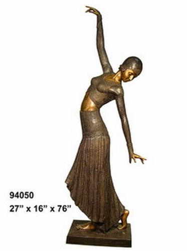 Bronze Dancing Lady Statue - AF 94050