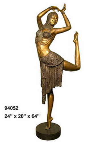 Bronze Egyptian Lady Dancer Statues - AF 94052