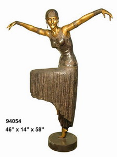 Bronze Egyptian Lady Dancer Statues - AF 94054