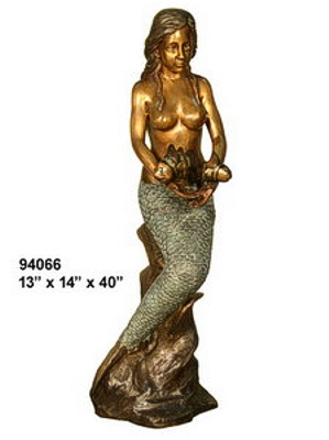 Bronze Mermaid Statue - AF 94066