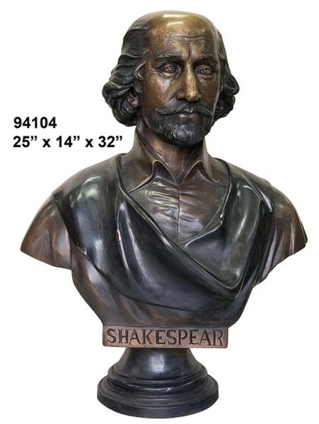 Shakespeare Bronze Bust - AF 94104