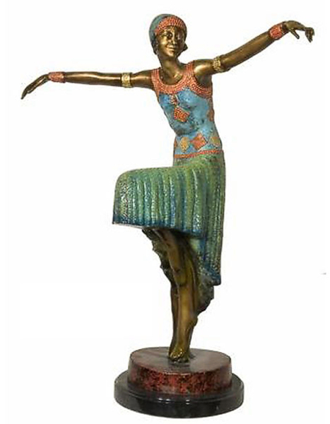 Bronze Exotic Dancer Statue - AF 94158NA