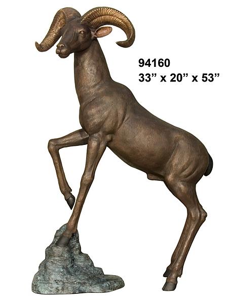 Bronze Ram Statue - AF 94160