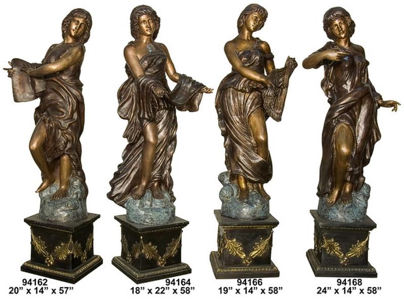 Bronze 4 Ladies Statue - AF 94162-168