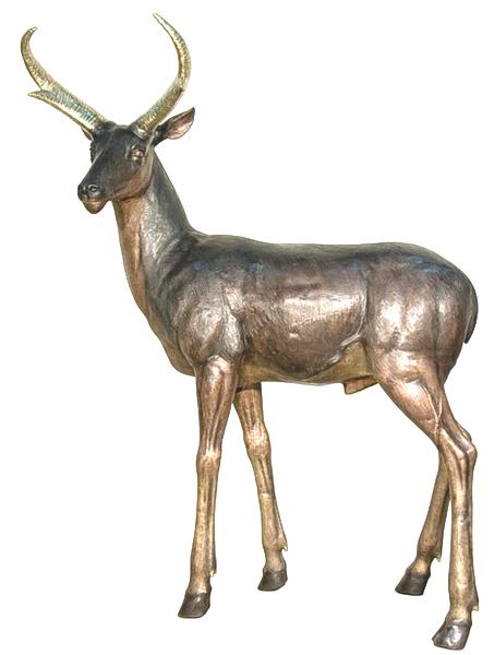 Bronze Impala Statues - AF 94190