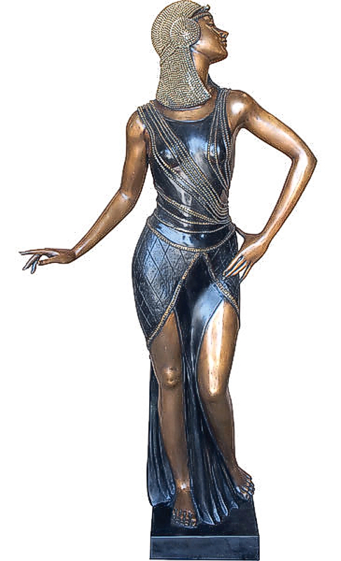 Bronze Egyptian Lady Statue - AF 94200MTS