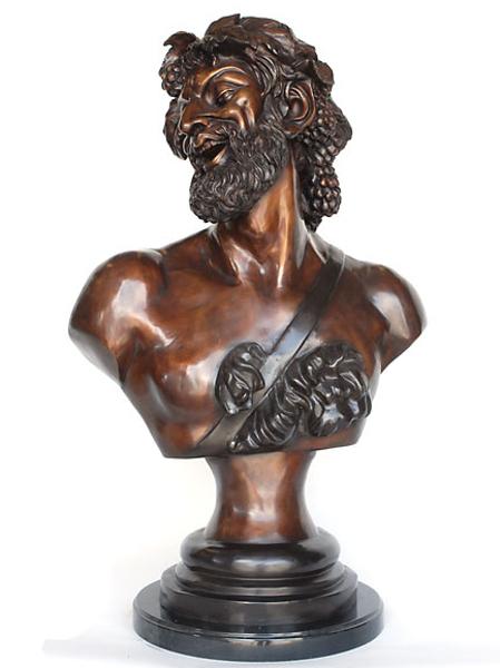 Bronze Bacchus Bust - AF 94224M