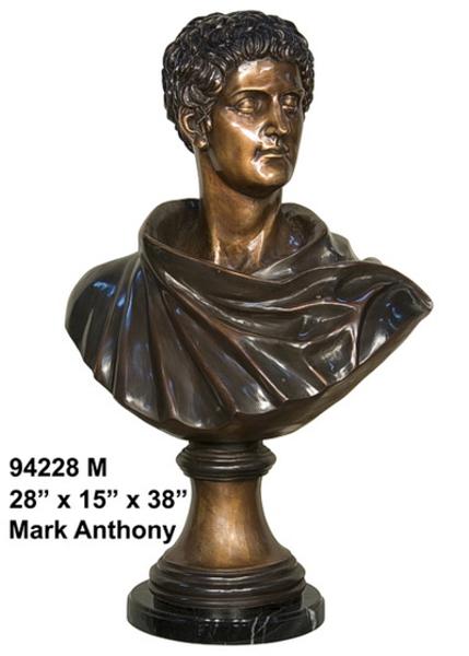 Bronze Marc Anthony Bust - AF 94228M