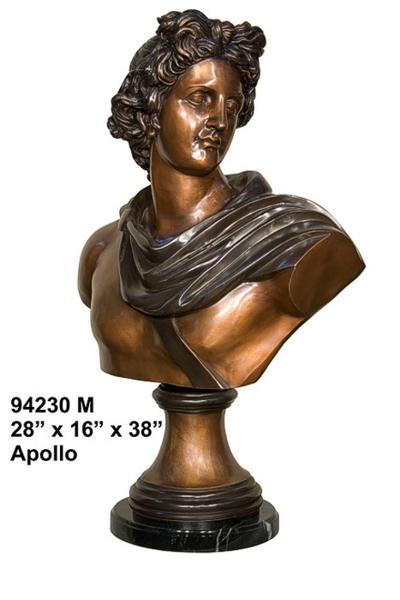 Bronze Apollo Bust - AF 94230M