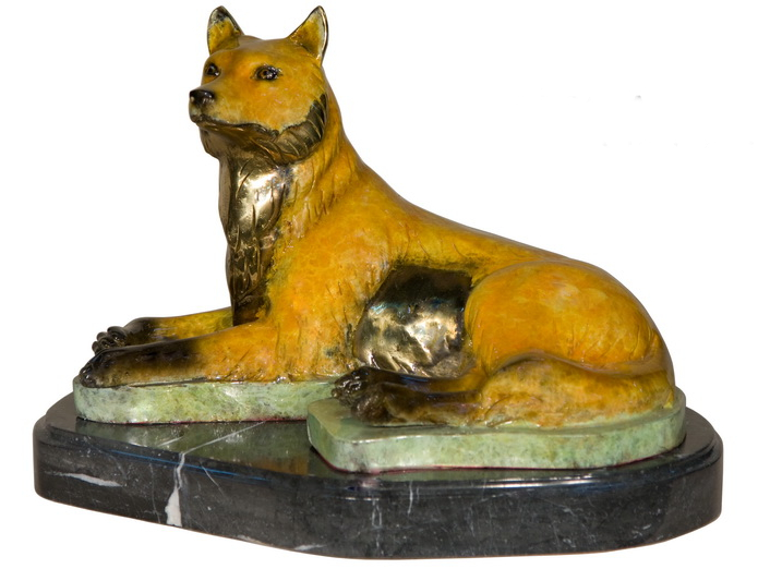 Bronze Fox Statue - AF 94234NA