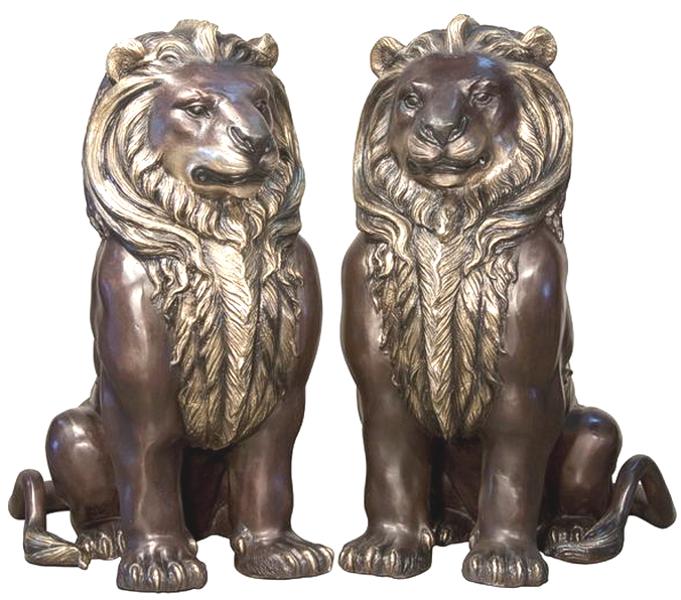 Bronze Lion Statues - AF 94400LR