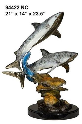 Bronze Shark Statue - AF 94422