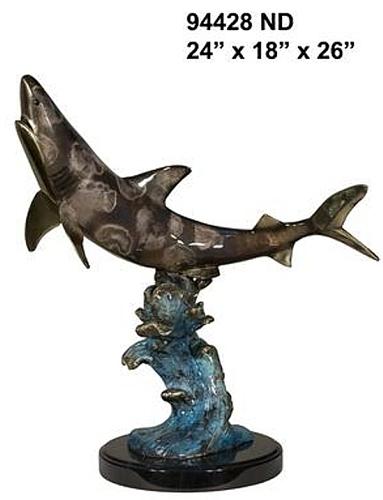 Bronze Shark Statue - AF 94428ND