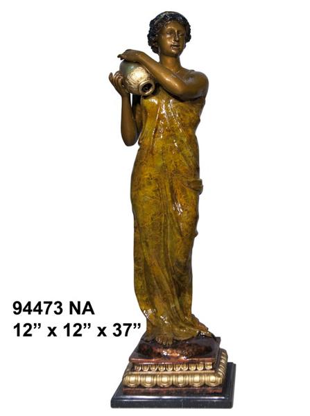 Bronze Lady Urn Statue - AF 94473NA