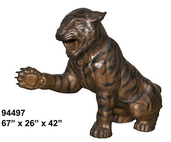 Bronze Tiger Statue - AF 94497