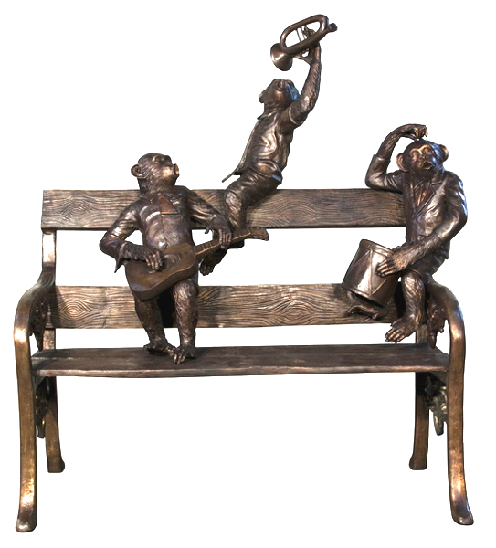 Bronze Monkey Band Bench - AF 94512
