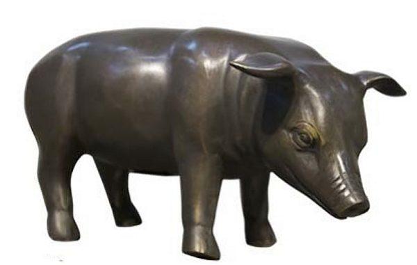 Bronze Piglet Statue