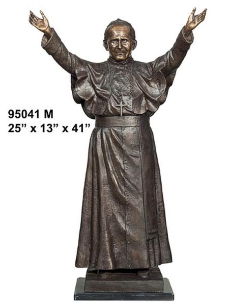Bronze Pope John Paul 2nd Statue - AF 95041M